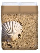 Sandy Shell Duvet Cover by Jorgo Photography - Wall Art Gallery