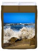Sandy Surf Splash Duvet Cover