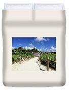Sandy Trail Miami Florida Duvet Cover