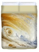 Sandy Wave Crashing Duvet Cover