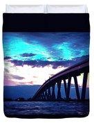 Sanibel Causeway Bridge Duvet Cover