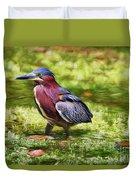 Sanibel Green Heron Duvet Cover