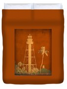 Sanibel Island Lighthouse Duvet Cover