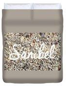 Sanibel Island Seashells Duvet Cover