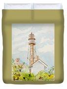 Sanibel Lighthouse 2 Duvet Cover