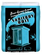 Sanitary Unit Fap Poster Duvet Cover