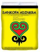 Sankofa Adinkra Duvet Cover