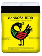 Sankofa Bird Of Knowledge Duvet Cover