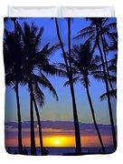 Sans Souci Sunset Waikiki Duvet Cover