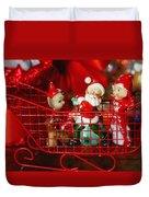 Santa And His Elves Duvet Cover
