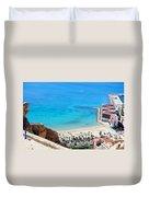 Santa Barbara Castle Duvet Cover