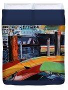 Santa Barbara Harbor Duvet Cover