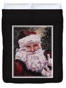 Santa Chat Duvet Cover