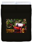 Santa-claus Boot Duvet Cover by Carlos Caetano