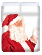 Santa Claus Waving Hand Duvet Cover