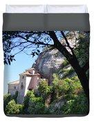 Santa Cova Monserratt Spain Duvet Cover