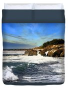 Santa Cruz Coastline Duvet Cover