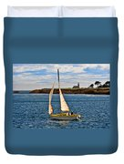 Santa Cruz Mark Abbott Memorial Lighthouse Ca  Duvet Cover by Christine Till