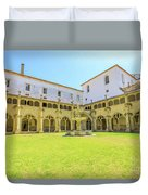 Santa Cruz Monastery Cloister Duvet Cover