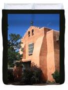 Santa Fe - Adobe Church Duvet Cover