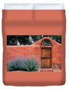 Santa Fe Gate No. 2 - Rustic Adobe Antique Door Home Country  Duvet Cover