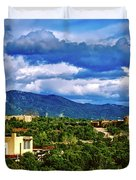 Santa Fe New Mexico Duvet Cover
