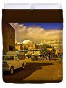 Santa Fe Plaza Duvet Cover
