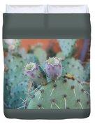 Santa Fe Prickly Pear Cactus Duvet Cover