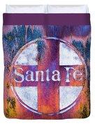 Santa Fe Rr Duvet Cover by Lou Novick
