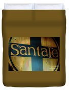 Santa Fe Vintage Sign Duvet Cover