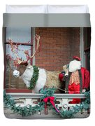 Santa Is Watching You Duvet Cover