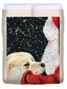 Santa Loves Dogs Duvet Cover