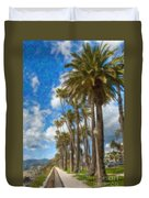 Santa Monica Ca Palisades Park Bluffs  Duvet Cover