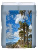 Santa Monica Ca Palisades Park Bluffs Palm Trees Duvet Cover