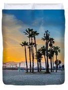 Santa Monica Sunset Duvet Cover