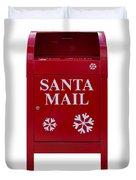 Santa Red Mail Box Duvet Cover