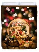 Santa Snow Globe Duvet Cover