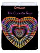 Santana The Corazon Tour Duvet Cover by Visual Artist Frank Bonilla
