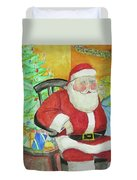 Santas Secret Duvet Cover