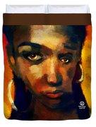 Santia In Orange 726 Duvet Cover