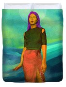 Santia Walking On Water Duvet Cover