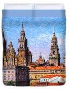 Santiago De Compostela, Cathedral, Spain Duvet Cover