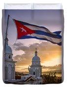 Santiago De Cuba Dusk Duvet Cover