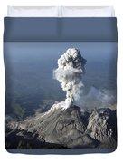 Santiaguito Ash Eruption, Guatemala Duvet Cover by Martin Rietze