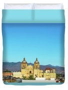 Santo Domingo Church And Hills Duvet Cover