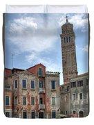 Santo Stefano Venice Leaning Tower Duvet Cover