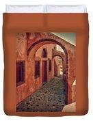Santorini Courtyard Duvet Cover
