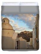 Santorini Dome Church Duvet Cover