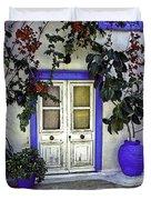 Santorini Doorway 1 Duvet Cover