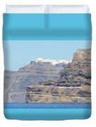 Santorini Fira Duvet Cover